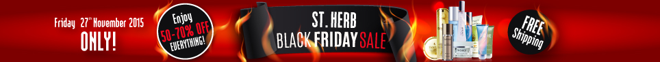 St. Herb Black Friday 2015 Sale up to 70% OFF!