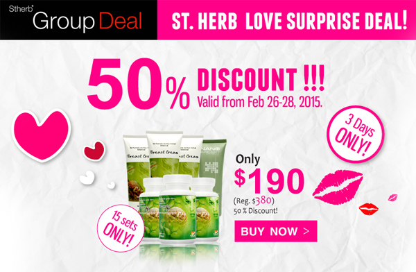 Hello Valentine. Feeling bored of the same Valentine's gift idea? Whether it's for yourself or your loved one, touch the colorful moment with our Valentine's promotion that will incredibly amaze you and your beloved! Come explore our various promo sets and pick them to color up your love variety now as we believe variety is the spice of life! Valid till March 31st, 2015.