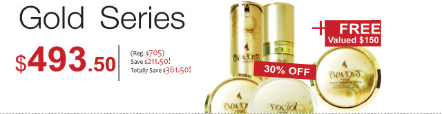 Gold Series : The gold series set in ultimate combination for magnificent breast and facial skin beauty!