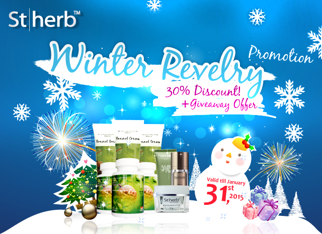 Hooray! Here comes the winter time of the year! What could be the best gift for the approaching reveling Christmas and New Year? Why don't reward yourself with appealing breast curves? Be awakened and get ready to celebrate holidays with the best deal from us! Be crazy with our 30% Discount! You will ALSO be entitled to play our Giveaway Offer Game and awarded FREEBIE valued up to $375 by lucky draw. It is Fun, Free & Real Simple! Valid now through January 31st, 2015.